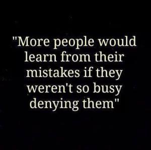 denying